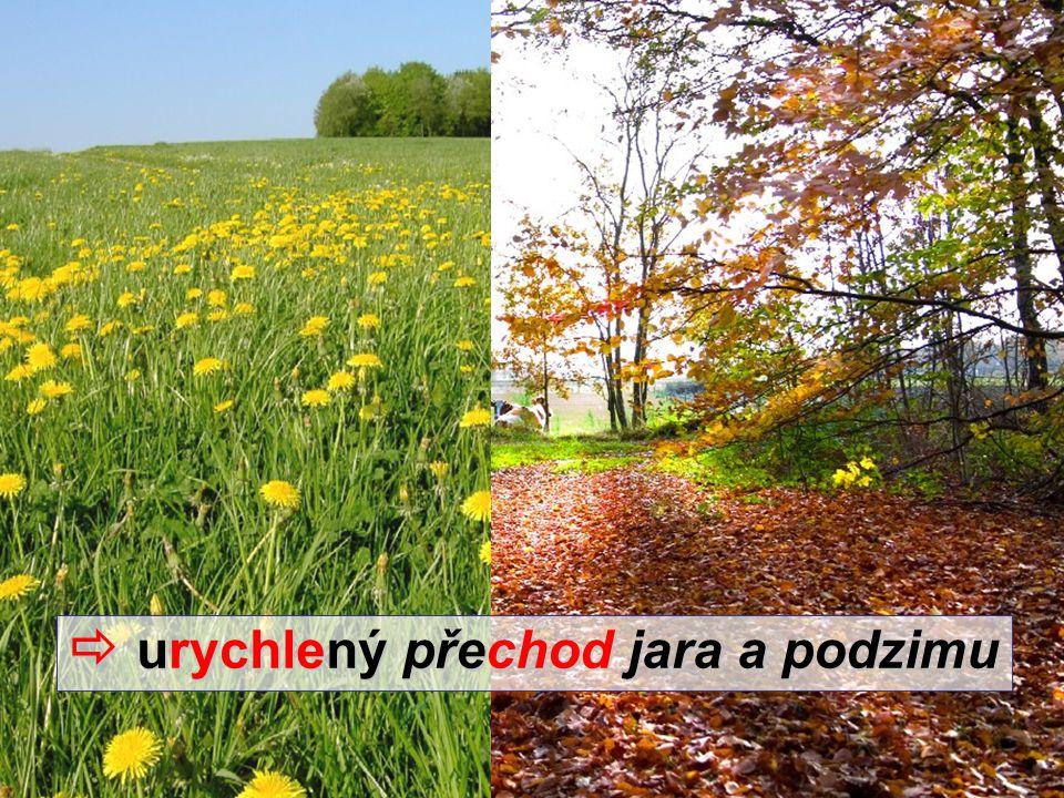  urychlený přechod jara a podzimu