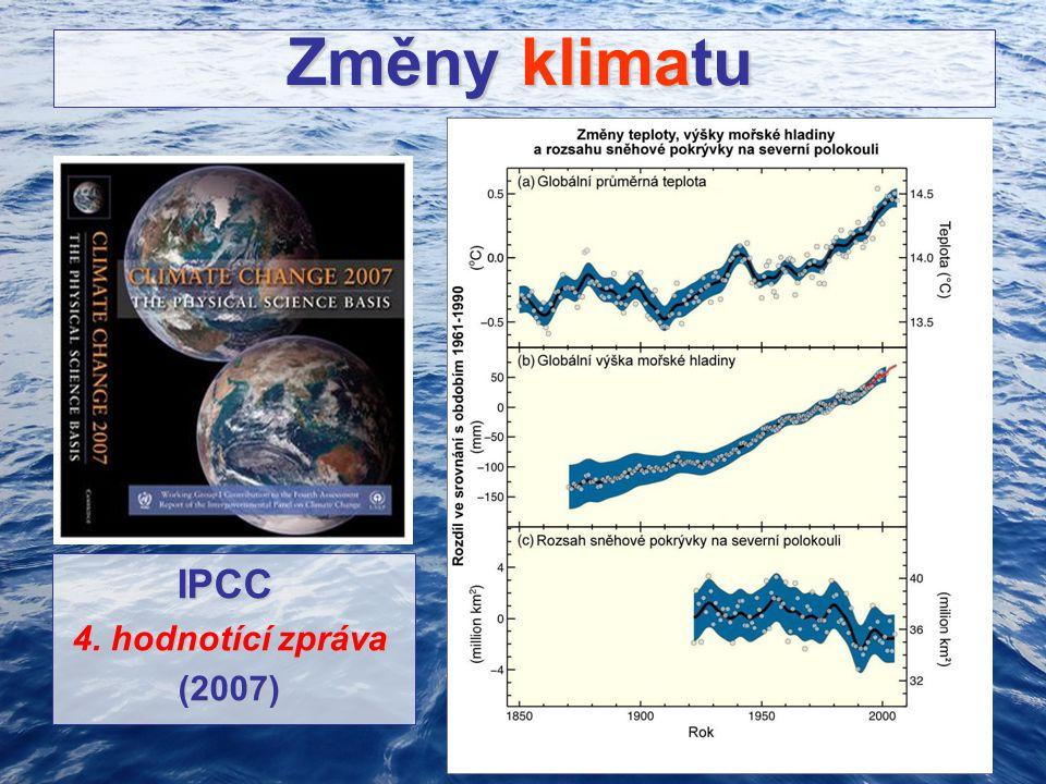 Změny klimatu Změny klimatu IPCC IPCC 4. hodnotící zpráva 4. hodnotící zpráva (2007) (2007)