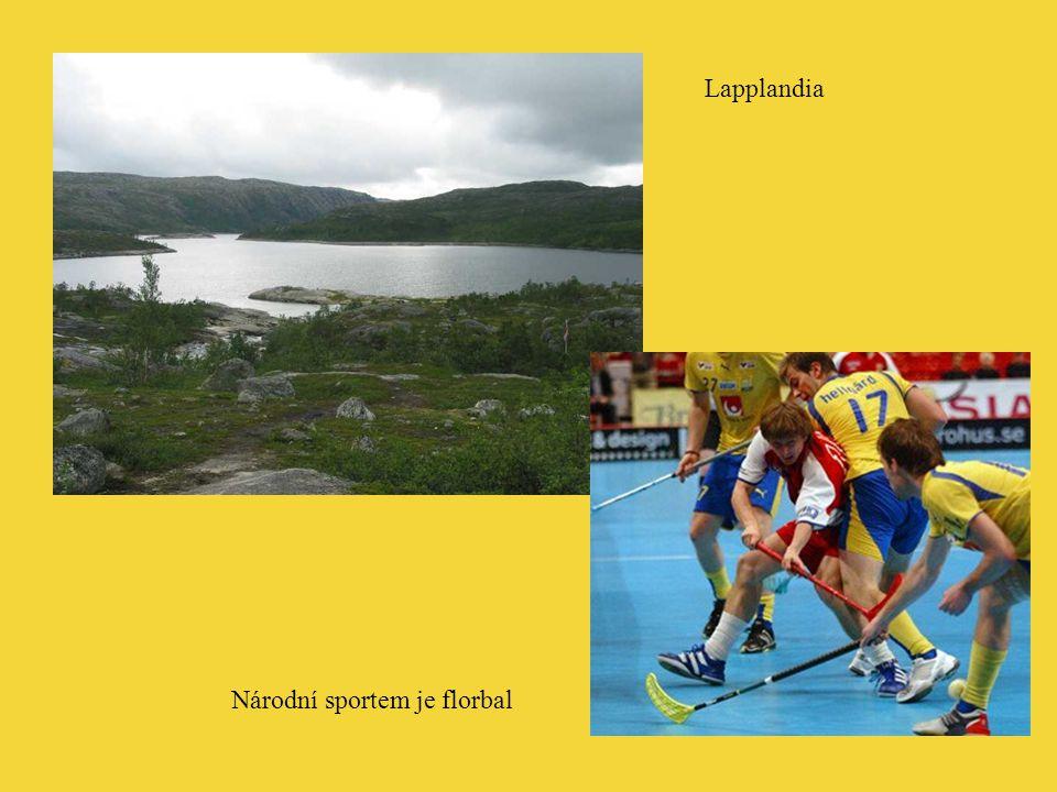 Lapplandia Národní sportem je florbal