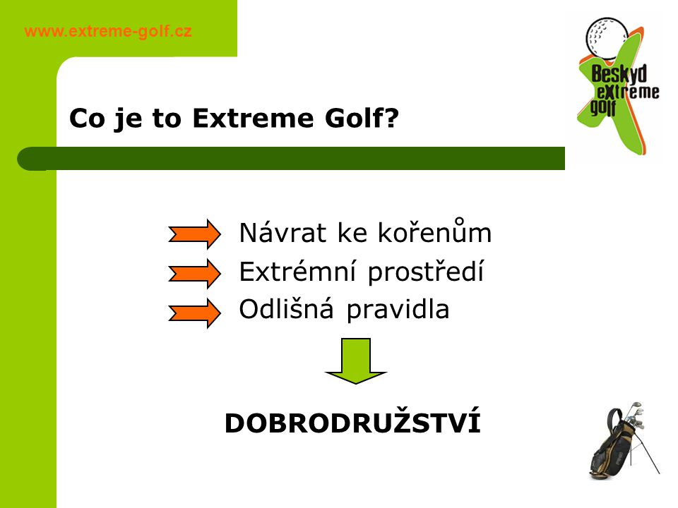 Co je to Extreme Golf.