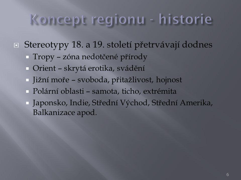  Region (či prostorová jednotka) jako nástroj výzkumu  Statistická jednotka (NUTS)  Region jako nástroj pro akci  Plánovací region (RP)  Region jako cíl a výsledek výzkumu  Cíl a výsledek výzkumu  Objekt výzkumu 7