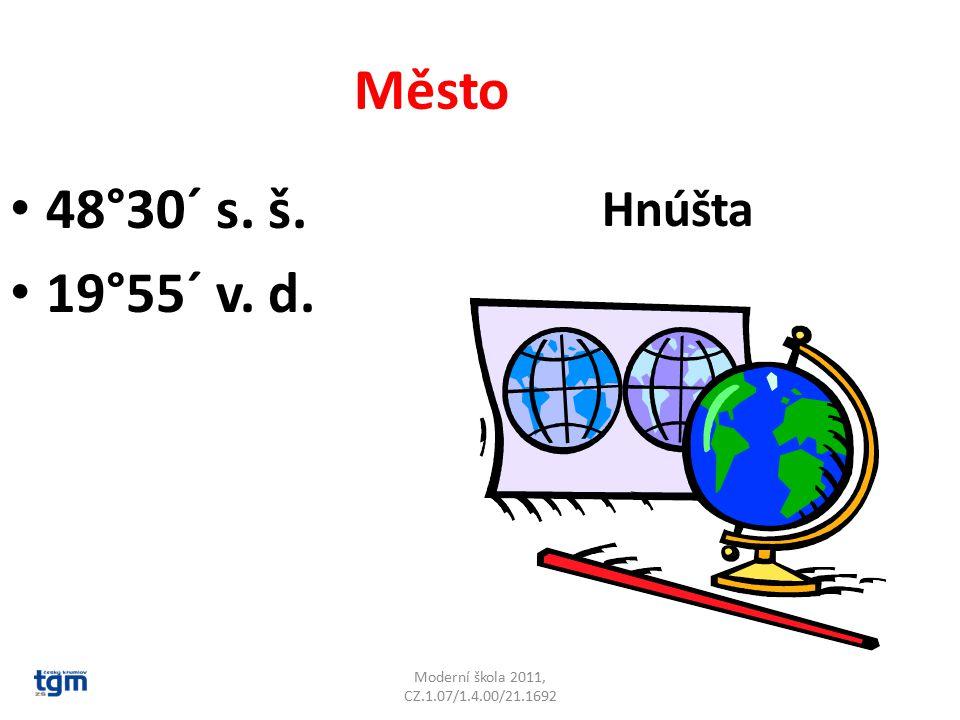 Moderní škola 2011, CZ.1.07/1.4.00/21.1692 Město 48°30´ s. š. 19°55´ v. d. Hnúšta