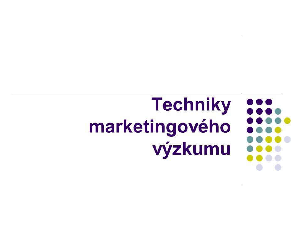 Techniky marketingového výzkumu