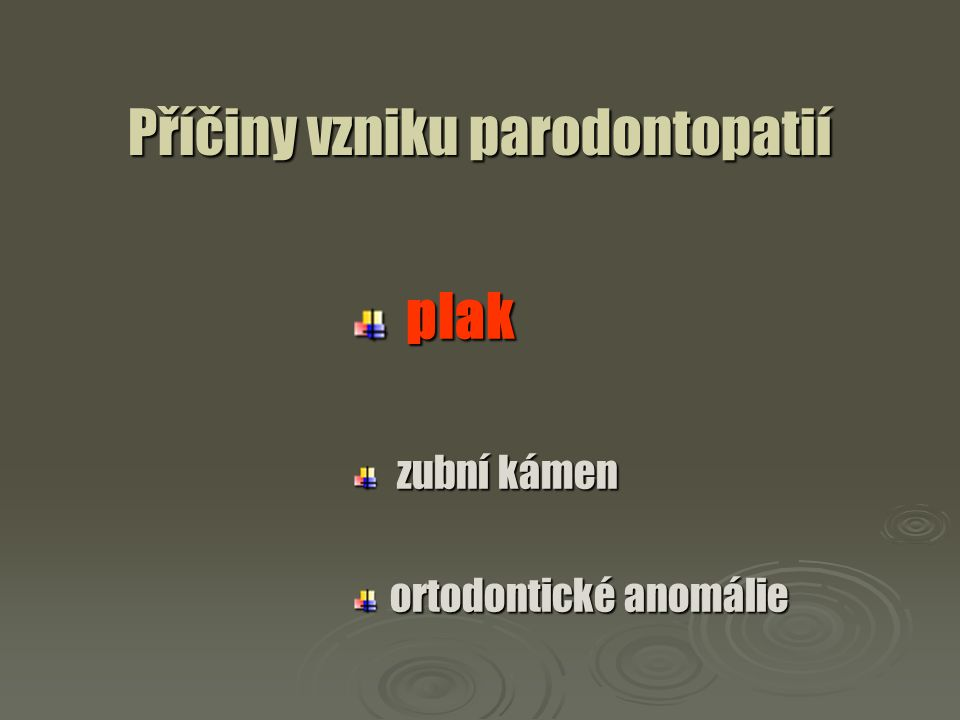 Příznaky parodontitis resorpce kosti alveolárního výběžku Foto K.