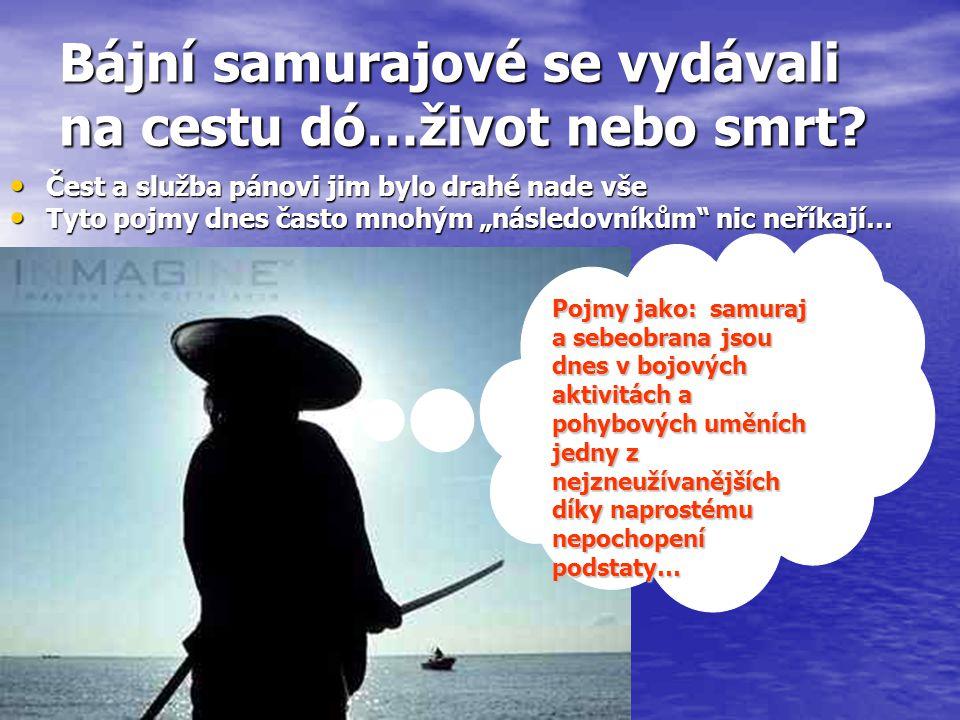 Bájní samurajové se vydávali na cestu dó…život nebo smrt? Čest a služba pánovi jim bylo drahé nade vše Čest a služba pánovi jim bylo drahé nade vše Ty