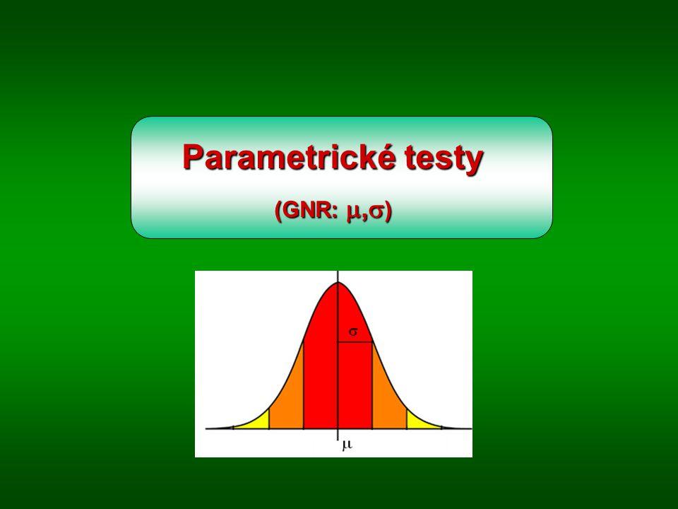Parametrické testy (GNR: ,  )