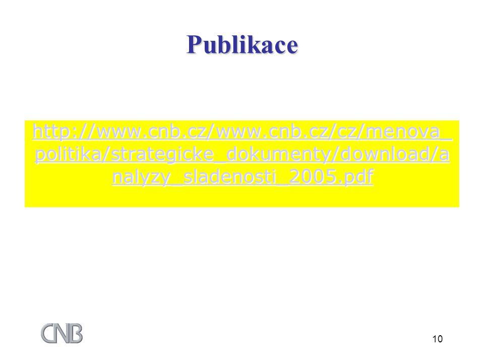 10 http://www.cnb.cz/www.cnb.cz/cz/menova_ politika/strategicke_dokumenty/download/a nalyzy_sladenosti_2005.pdf http://www.cnb.cz/www.cnb.cz/cz/menova_ politika/strategicke_dokumenty/download/a nalyzy_sladenosti_2005.pdfPublikace