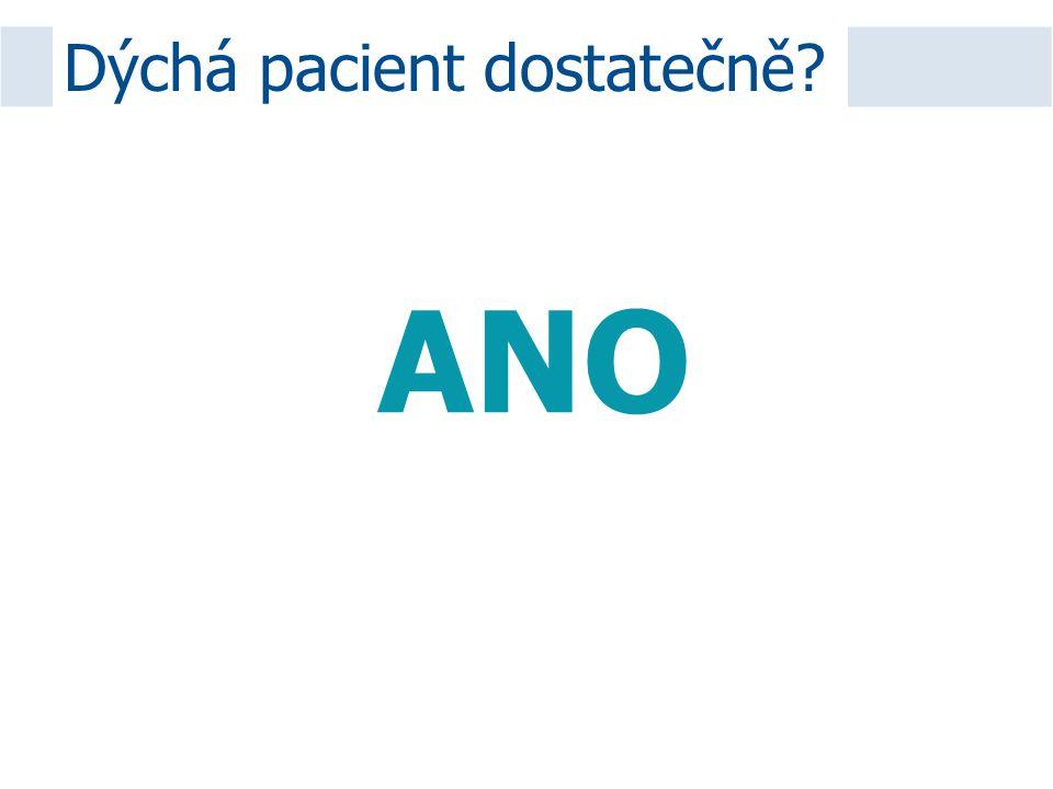 Dýchá pacient dostatečně? ANO
