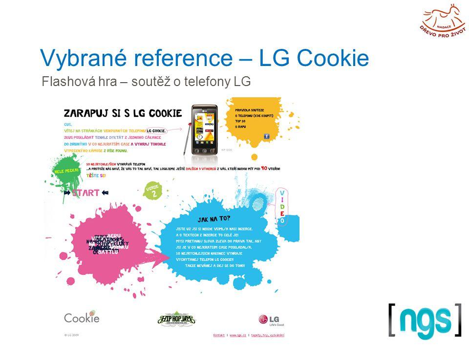 Vybrané reference – LG Cookie Flashová hra – soutěž o telefony LG