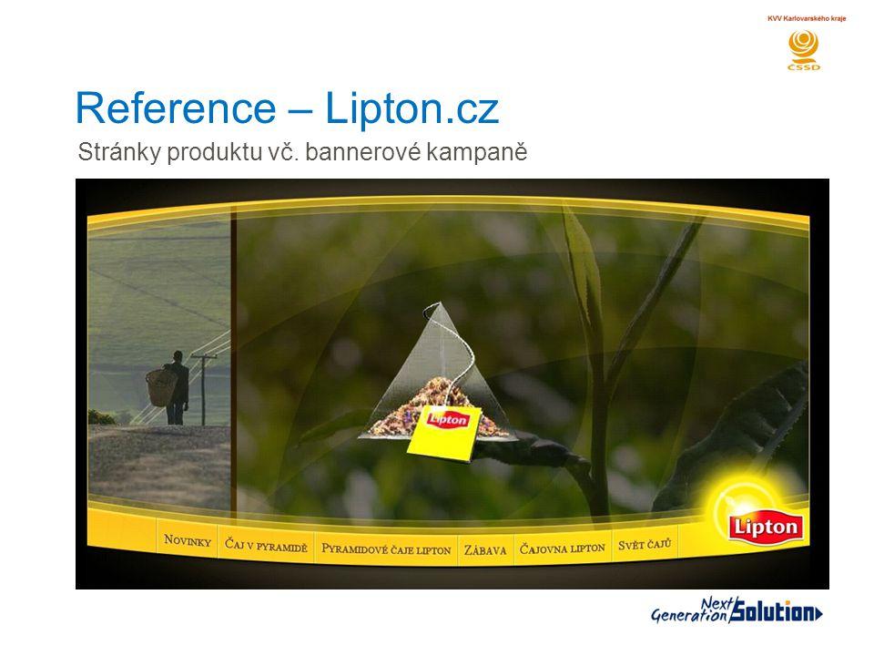 Reference – Lipton.cz Stránky produktu vč. bannerové kampaně