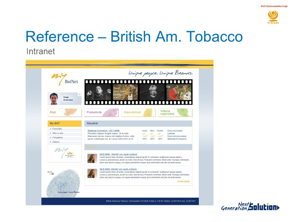 Reference – British Am. Tobacco Intranet
