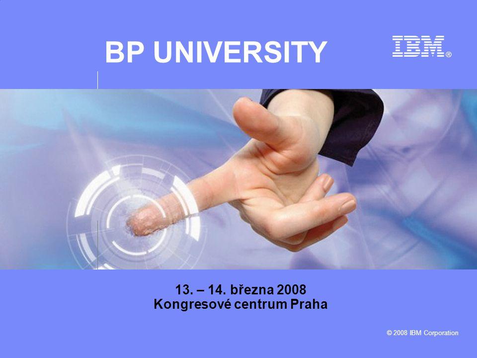 Business Partners University © 2008 IBM Corporation 12 PROGRAM VALUE PACKAGE Balíček, který umožňuje partnerům získat řadu výhod Benefity  Software pro demonstrační a zkušební účely  Software pro vnitropodnikové použití  Rozšířenou technickou podporu  Proplácení výdajů na vzdělávání Vašich zaměstnanců Roční poplatek: 2 000 USD Zakoupení: přes webové rozhraní PartnerWorldu Více informací: www.ibm.com/partnerworldwww.ibm.com/partnerworld