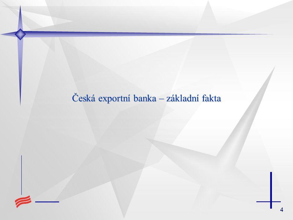 4 Česká exportní banka – základní fakta