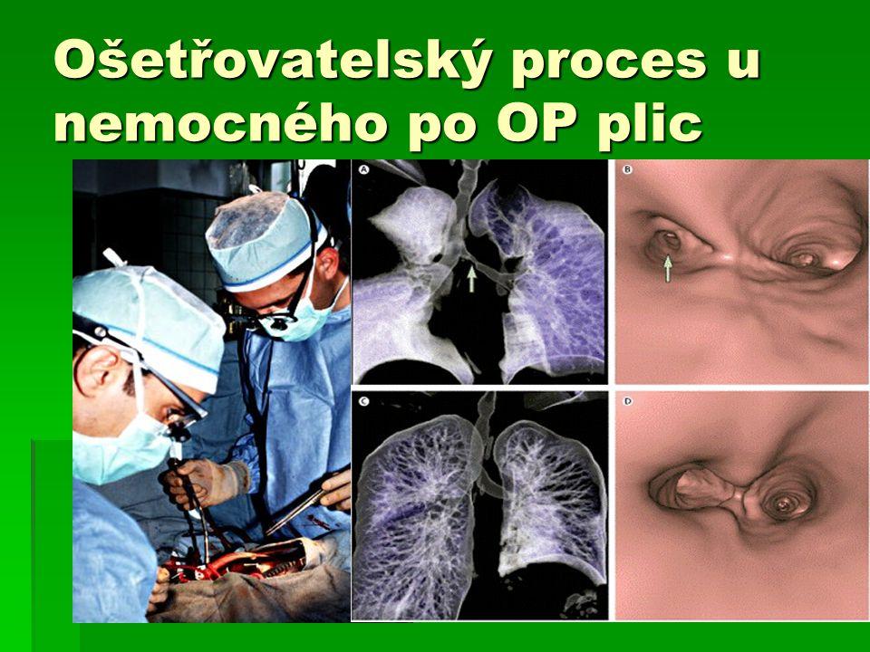 Ošetřovatelský proces u nemocného po OP plic