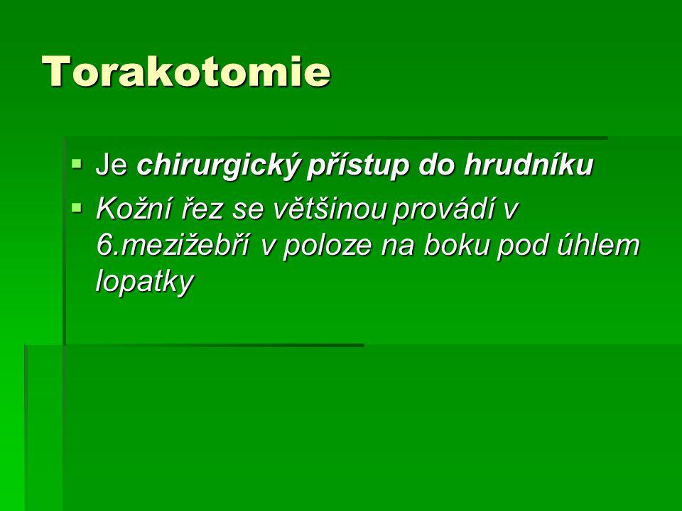 Posterolaterální torakotomie