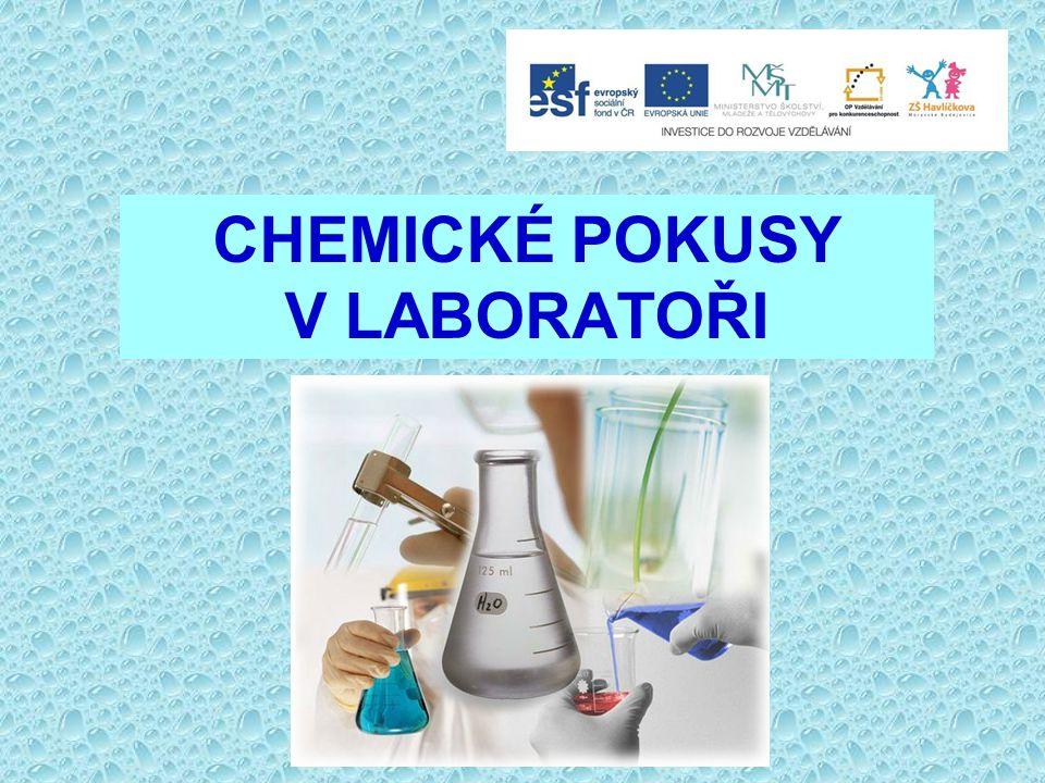 Základem chemie je pozorování a pokus.