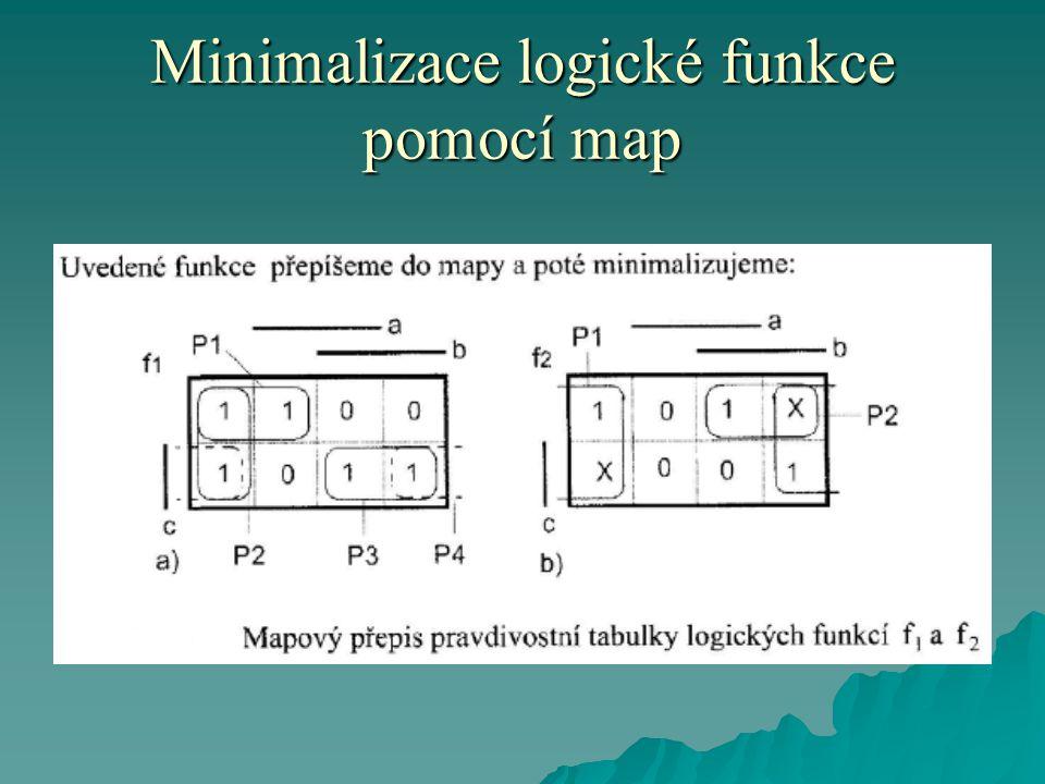 Minimalizace logické funkce pomocí map