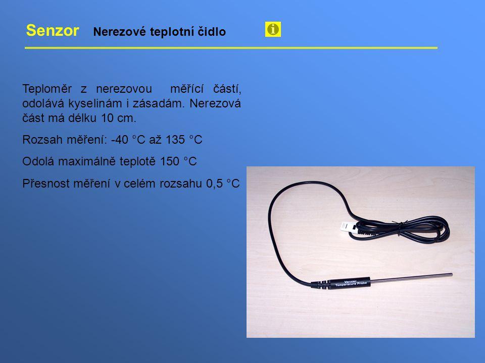 Senzor Nerezové teplotní čidlo Teploměr z nerezovou měřící částí, odolává kyselinám i zásadám.