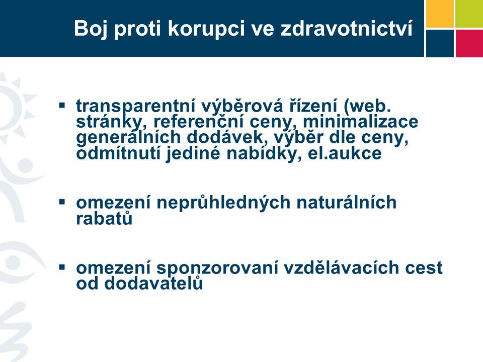 Boj proti korupci ve zdravotnictví  transparentní výběrová řízení (web.