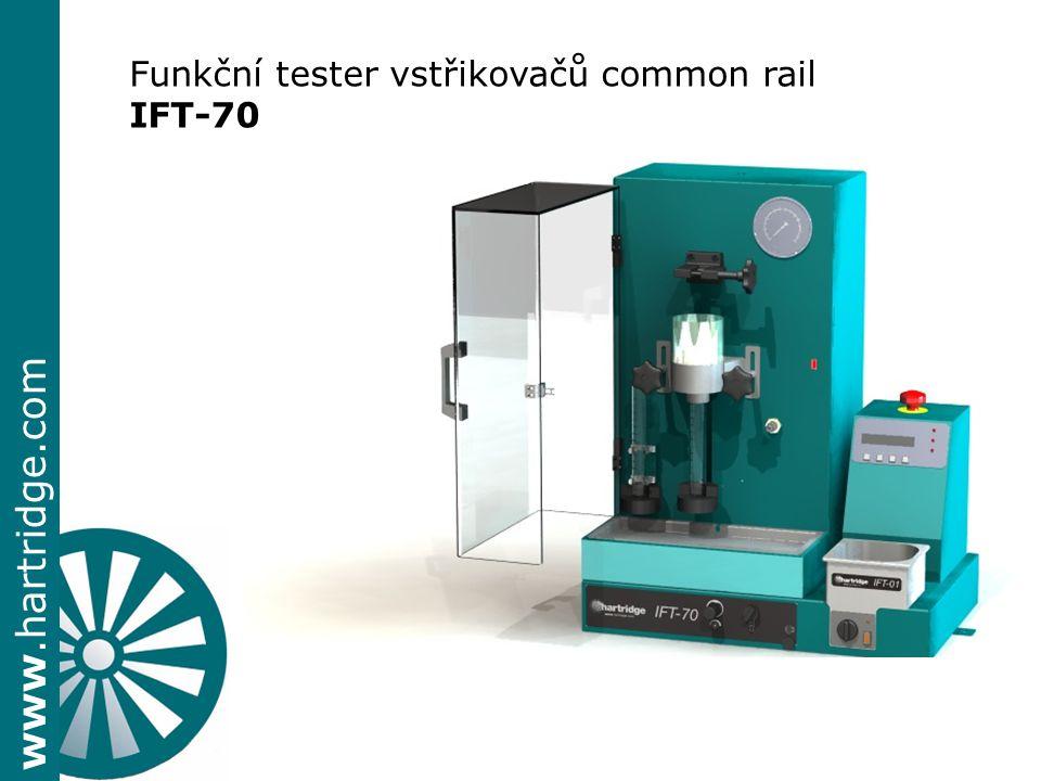 www.hartridge.com Funkční tester vstřikovačů common rail IFT-70