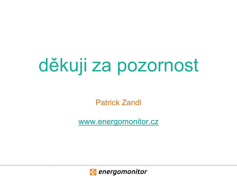 děkuji za pozornost Patrick Zandl www.energomonitor.cz