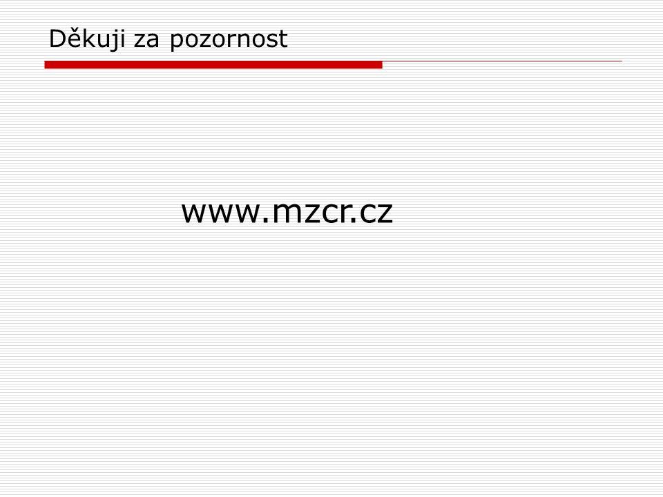 Děkuji za pozornost www.mzcr.cz