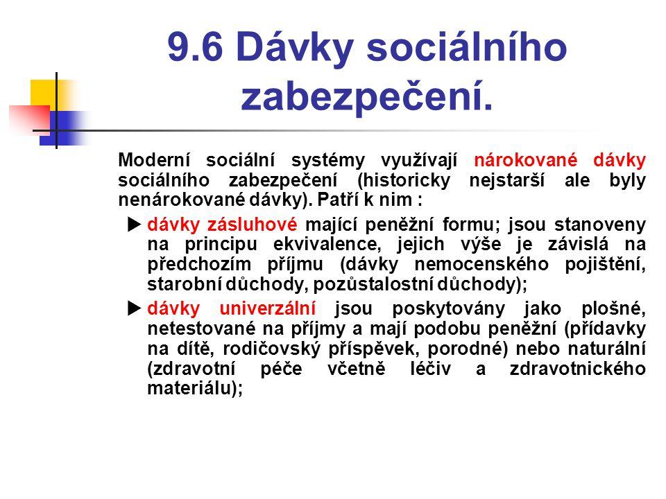 9.6 Dávky sociálního zabezpečení.