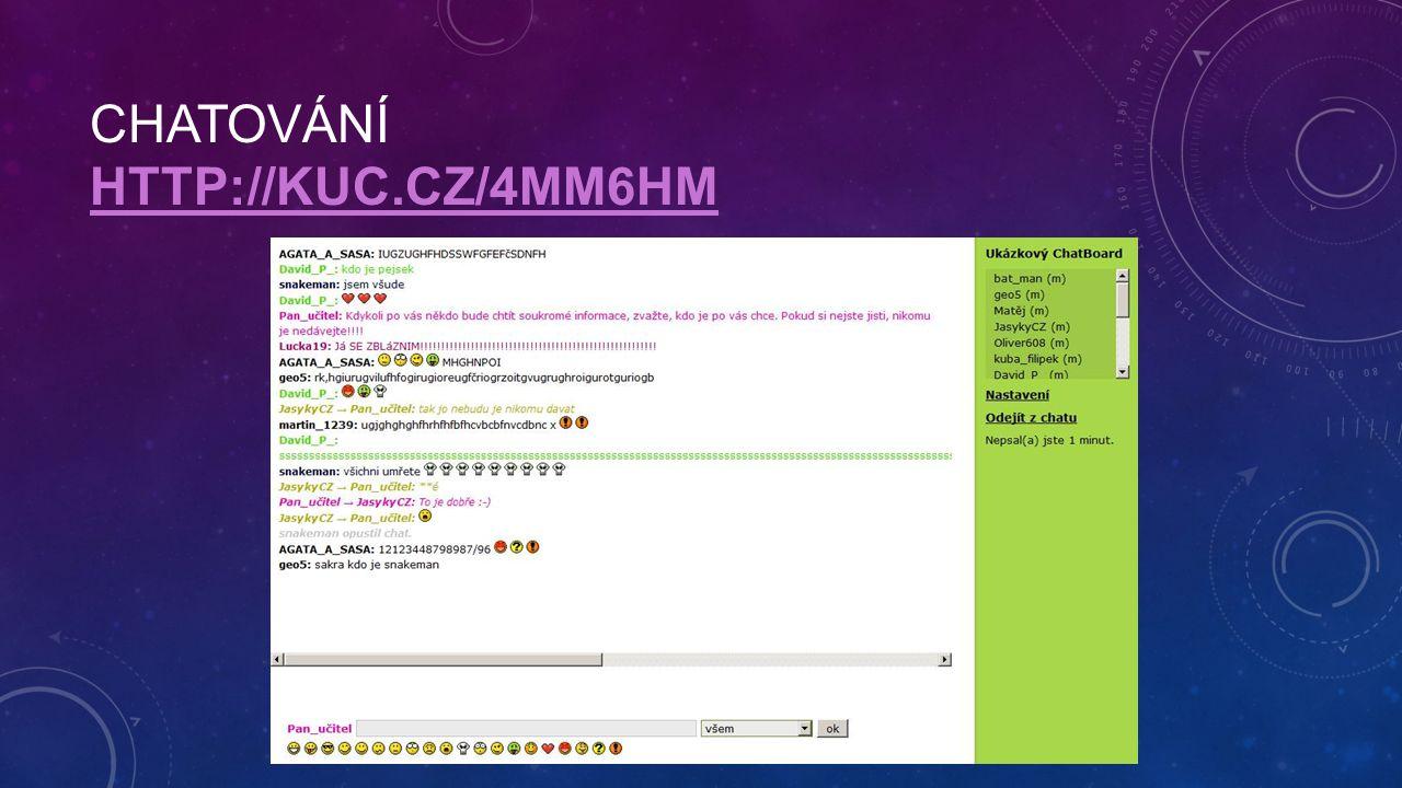 CHATOVÁNÍ HTTP://KUC.CZ/4MM6HM HTTP://KUC.CZ/4MM6HM