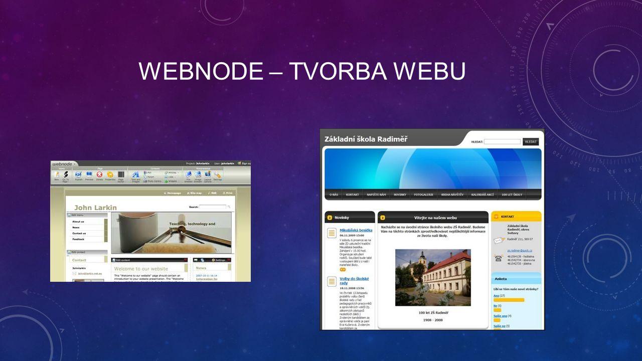 WEBNODE – TVORBA WEBU