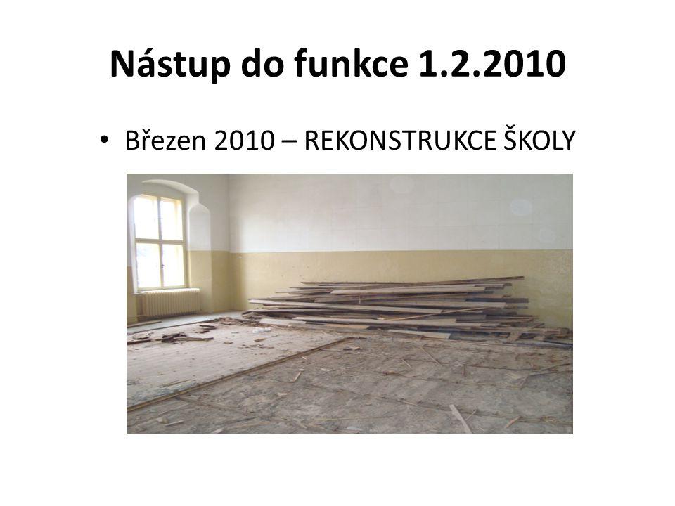 Nástup do funkce 1.2.2010 Březen 2010 – REKONSTRUKCE ŠKOLY