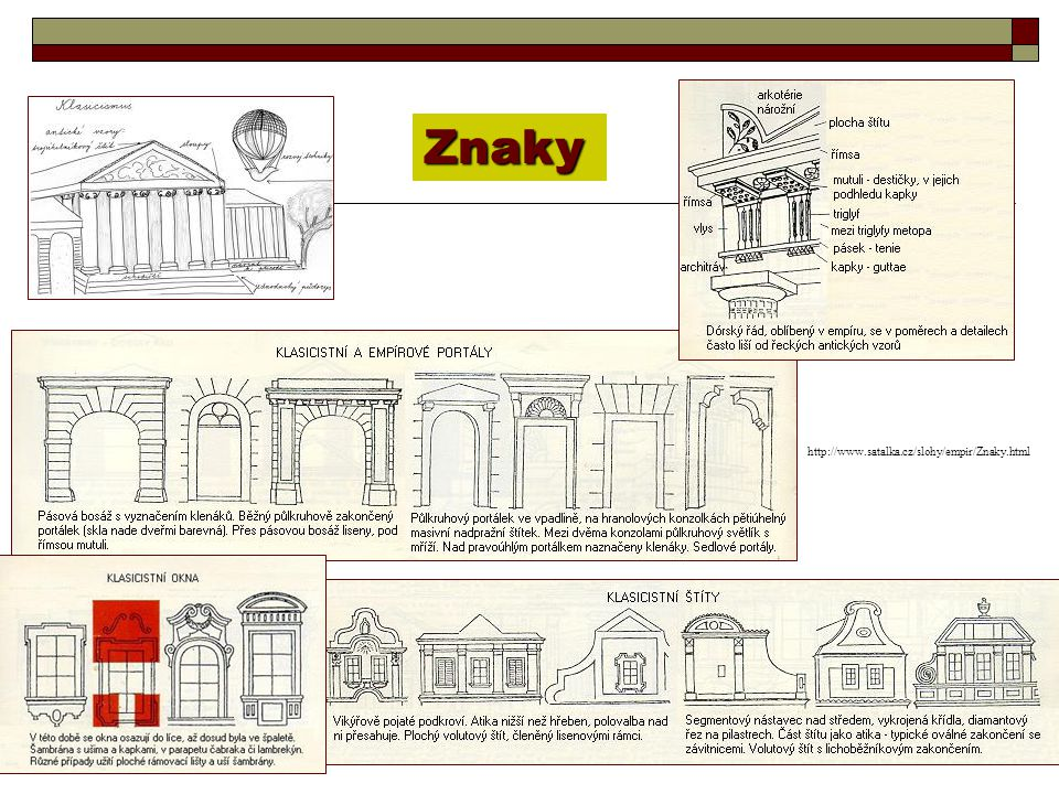 Znaky http://www.satalka.cz/slohy/empir/Znaky.html