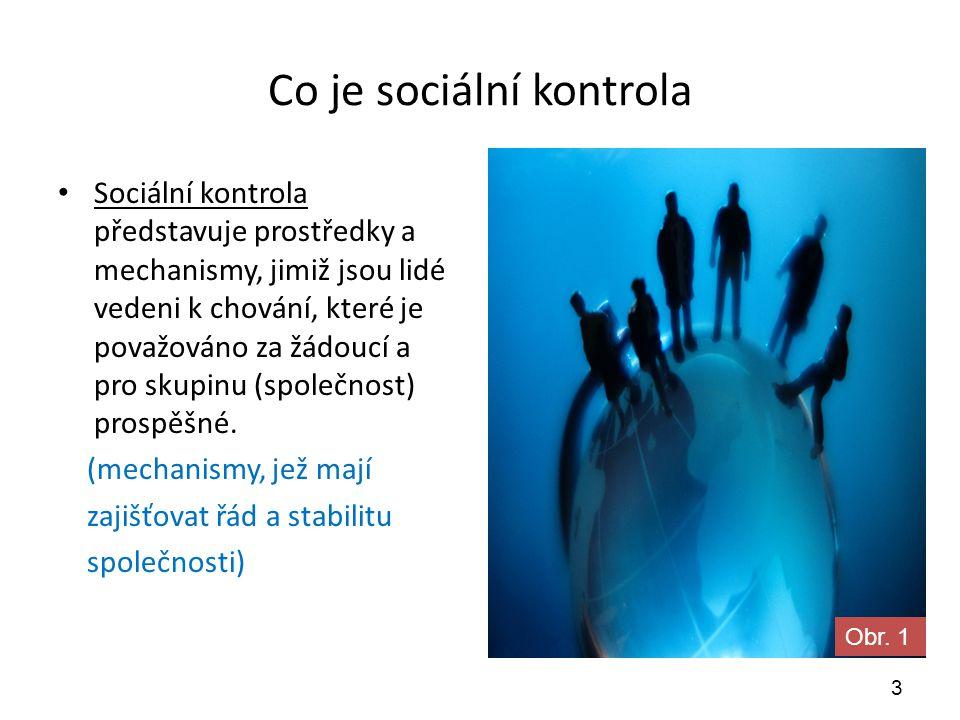 Proč sociální kontrola.