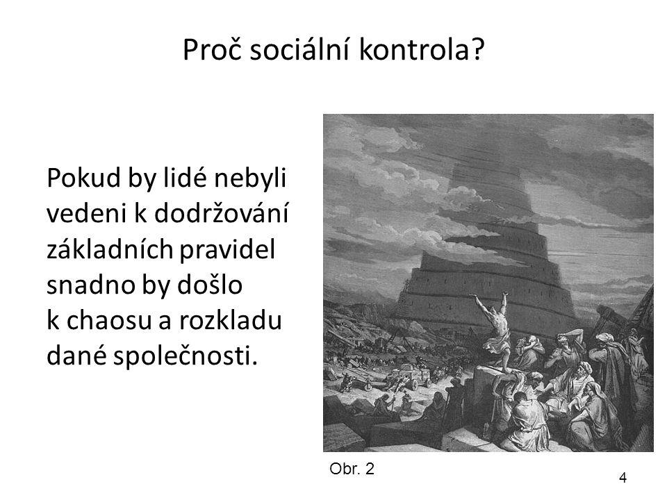 Vnitřní sociální kontrola 5 Vnitřní sociální kontrola (sebekontrola) Každý jedinec se postupně v procesu socializace učí žít ve společnosti.