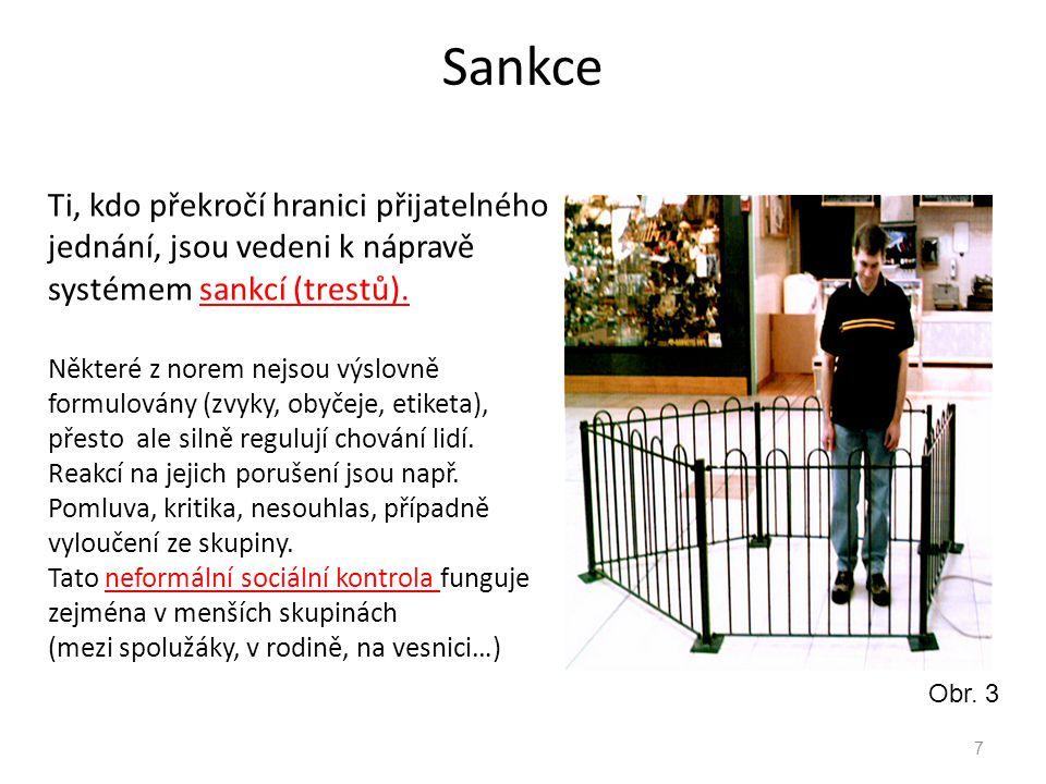 Sankce 8 Ve větších společnostech je nutná i formální sociální kontrola.