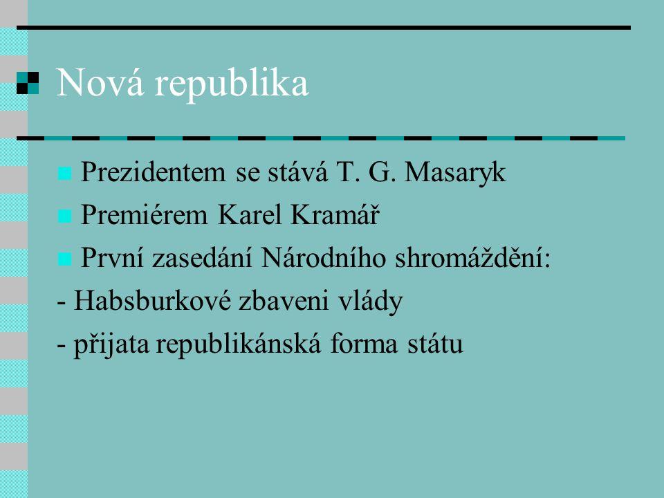 Nová republika Prezidentem se stává T.G.
