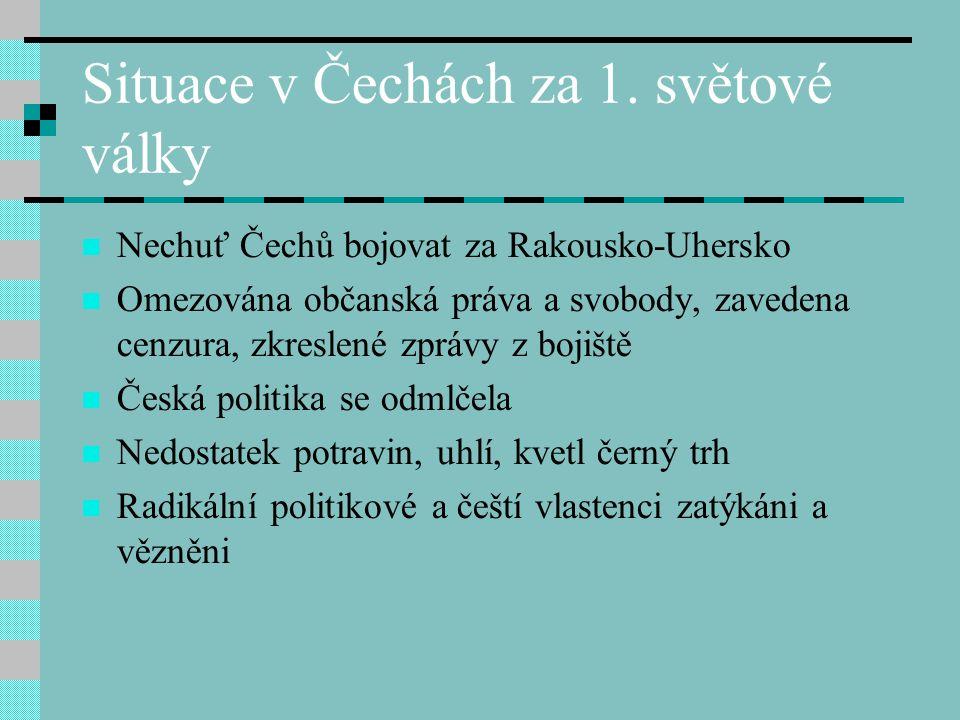 Situace v Čechách za 1.
