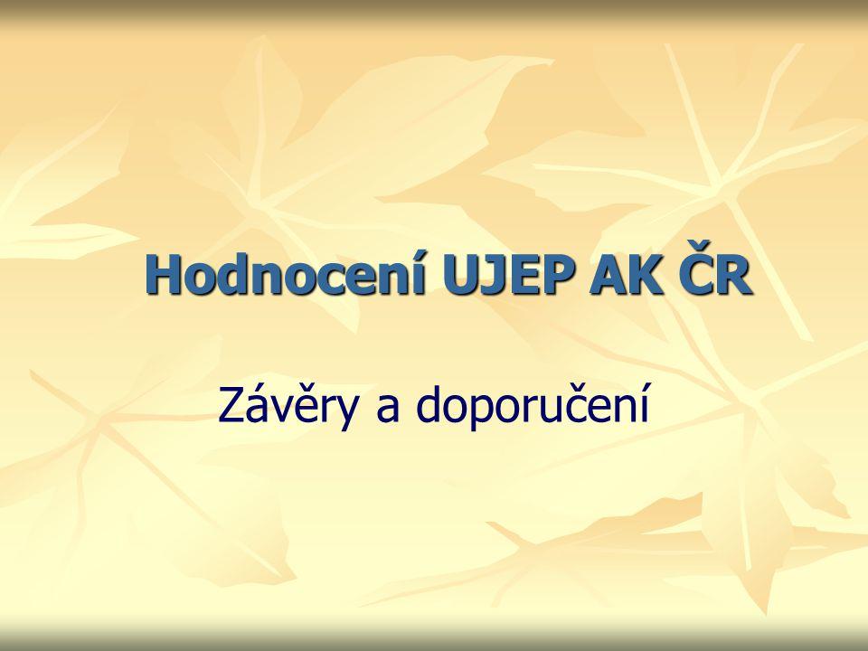 Hodnocení UJEP AK ČR Závěry a doporučení