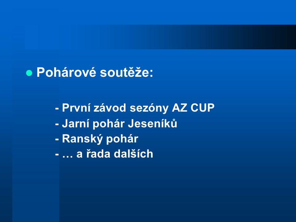 Pohárové soutěže: - První závod sezóny AZ CUP - Jarní pohár Jeseníků - Ranský pohár - … a řada dalších