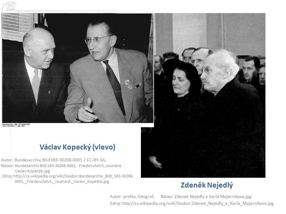 Václav Kopecký (vlevo) Autor: Bundesarchiv, Bild 183-30268-0001 / CC-BY-SA, Název: Bundesarchiv Bild 183-30268-0001, Friedensfahrt, Jouinard, Vaclev K