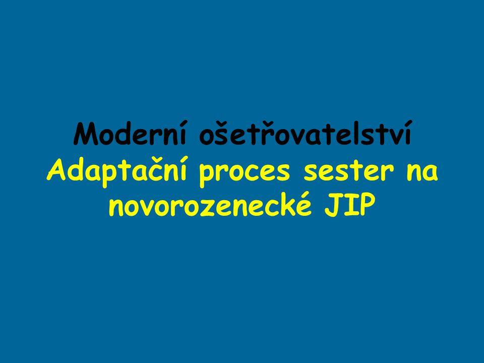 Moderní ošetřovatelství Adaptační proces sester na novorozenecké JIP