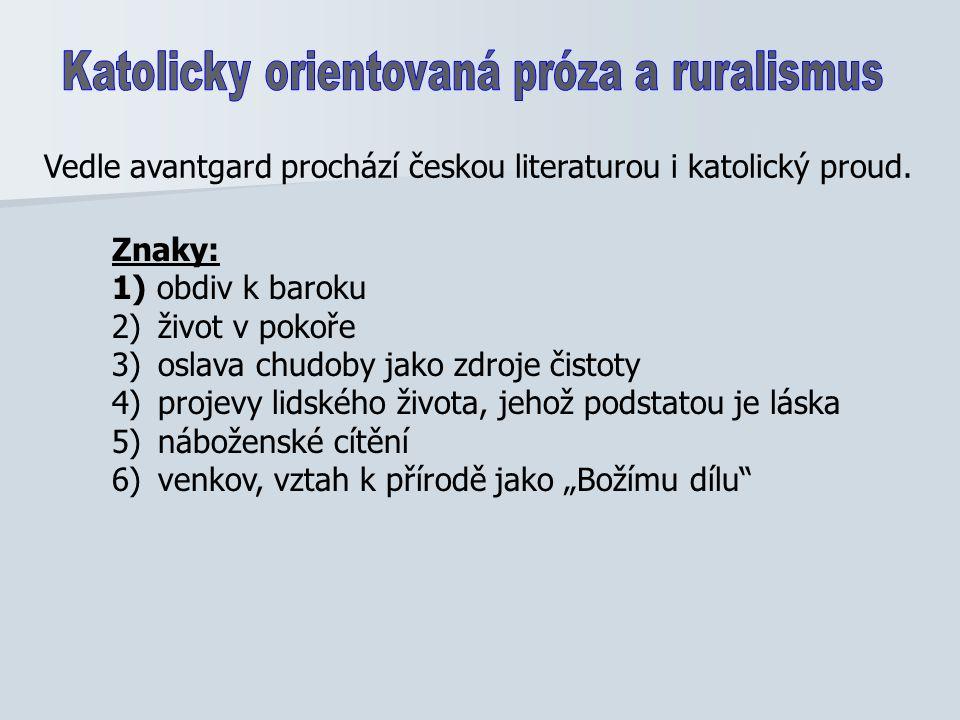 Vypracovala: Mgr. V. Sýkorová Použitá literatura: Galík, J.: PANORAMA ČESKÉ LITERATURY.