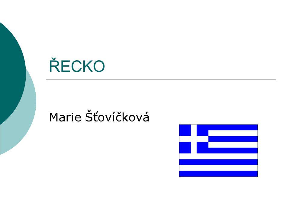 ŘECKO Marie Šťovíčková