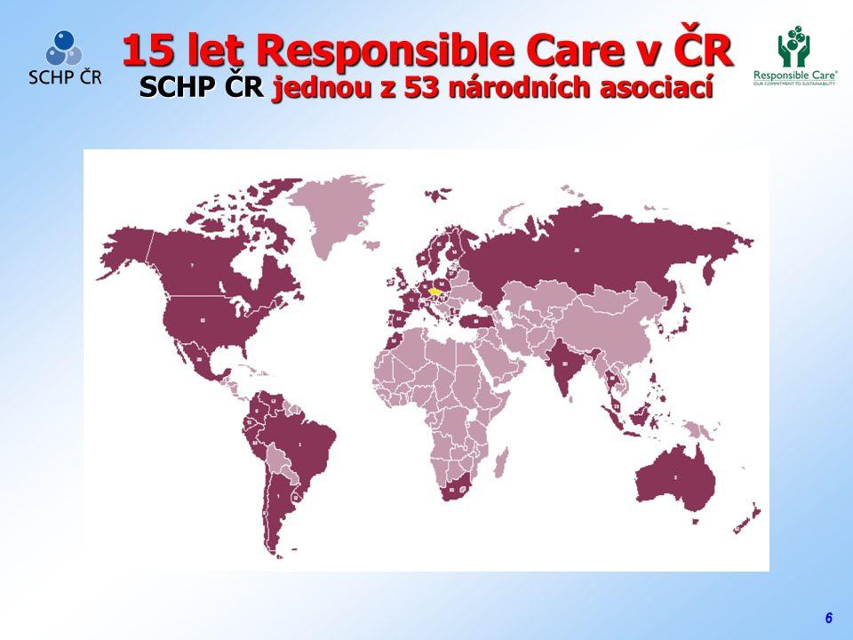 6 15 let Responsible Care v ČR SCHP ČR jednou z 53 národních asociací