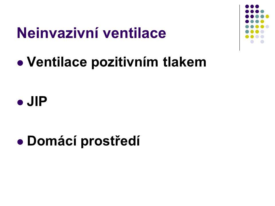 Neinvazivní ventilace Ventilace pozitivním tlakem