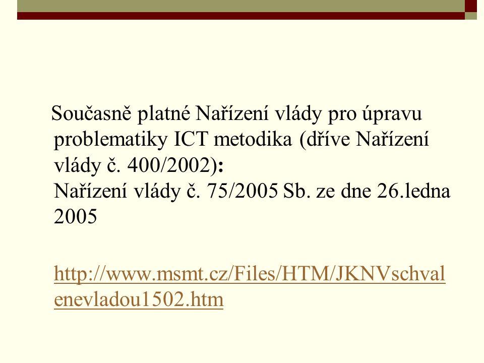 Nařízení vlády č.75/2005 Sb. ze dne 26.