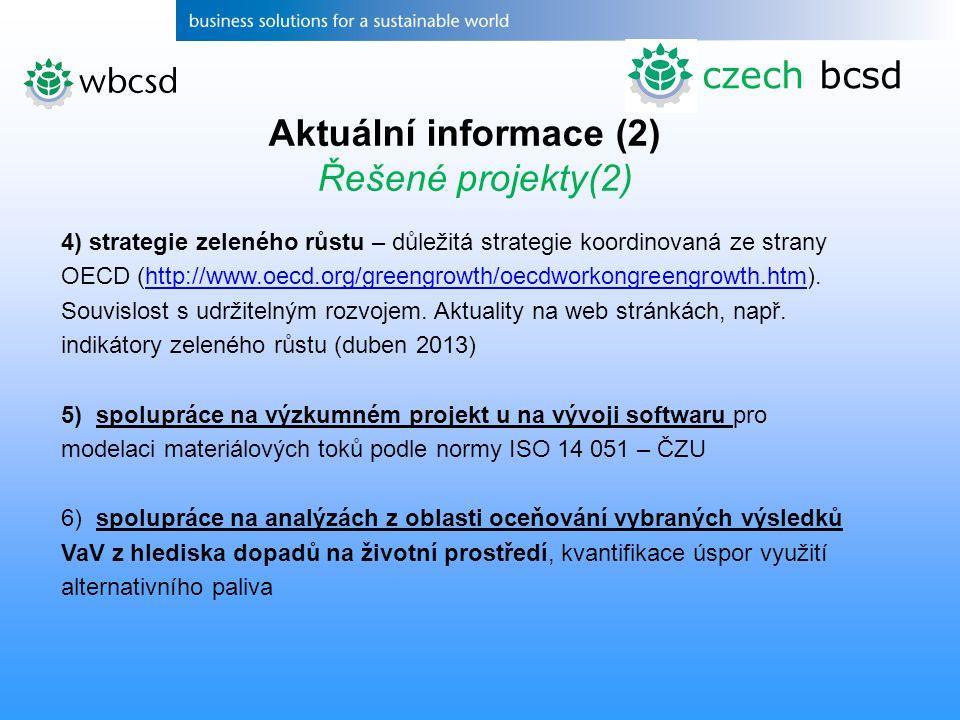 4) strategie zeleného růstu – důležitá strategie koordinovaná ze strany OECD (http://www.oecd.org/greengrowth/oecdworkongreengrowth.htm). Souvislost s
