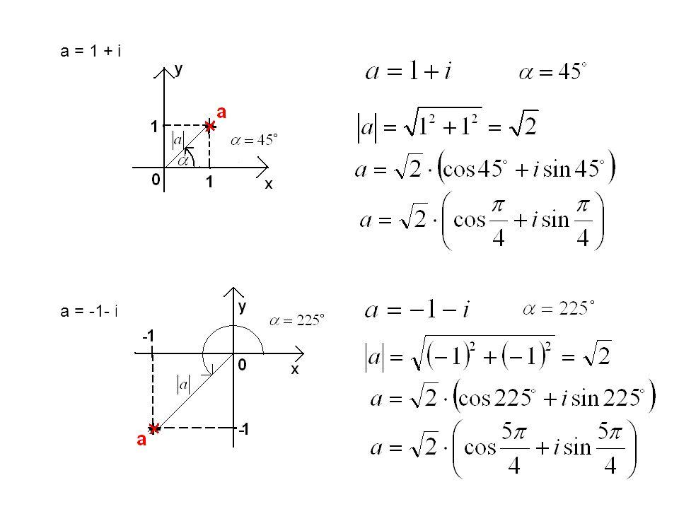 a = 1 + i a = -1- i i