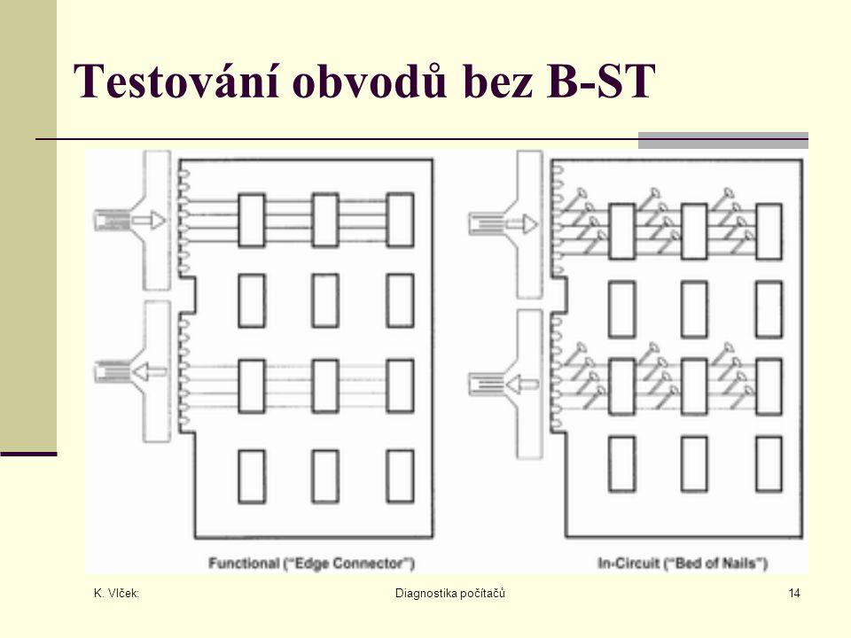 K. Vlček: Diagnostika počítačů14 Testování obvodů bez B-ST