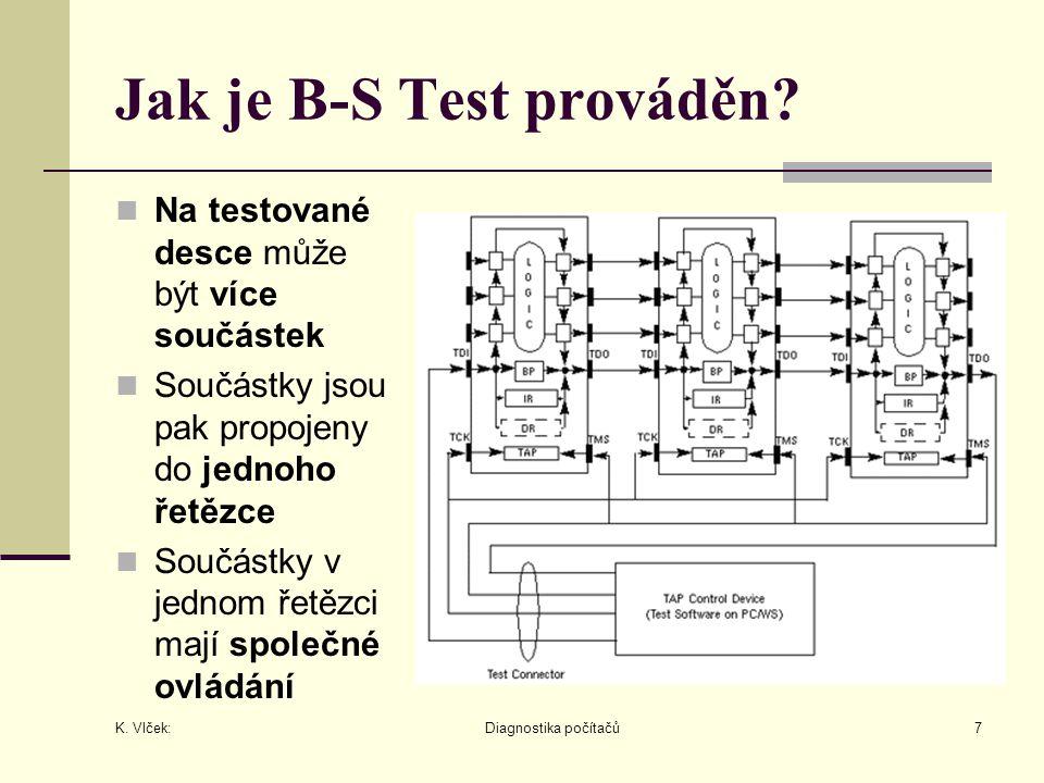 K. Vlček: Diagnostika počítačů7 Jak je B-S Test prováděn.