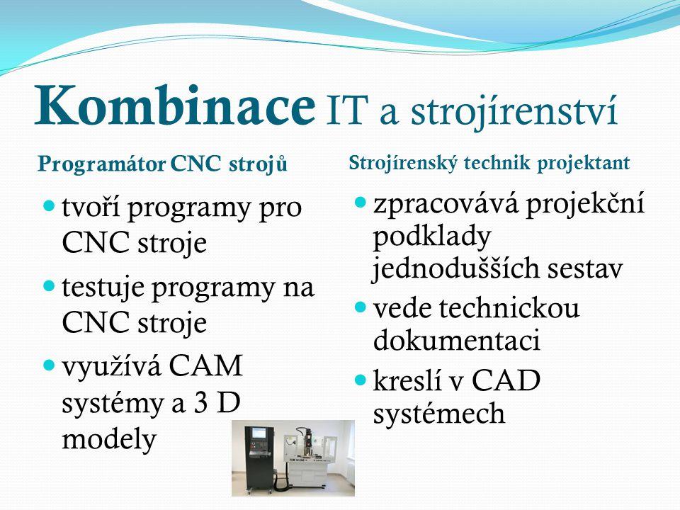 Programátor CNC stroj ů tvo ř í programy pro CNC stroje testuje programy na CNC stroje vyu ž ívá CAM systémy a 3 D modely